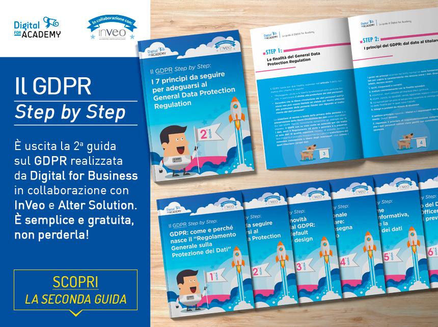 La seconda guida della collana Il GDPR Step by Step è già scaricabile gratuitamente