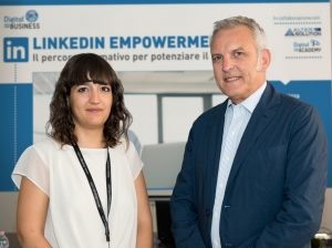 LinkedIn Empowerment: La dottoressa Irene Frau (Social Media Mnager di Digital for Business) insieme al dottor Stanislao Caputo (Amministratore Unico di Aristo Pharma Italy)